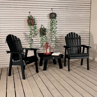 Deerpark Plastic/Resin Adirondack Chair with Table