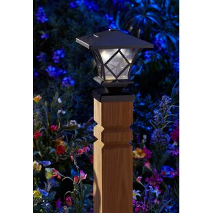 Premium Output Solar Powered Plastic 1 Light LED Fence Post Cap (Set of 4)