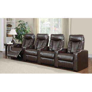 Nadeen Home Theater Leather Recliner (Row of 4) by Latitude Run