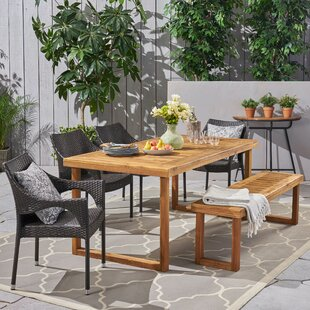 Clermt Outdoor 6 Piece Dining Set
