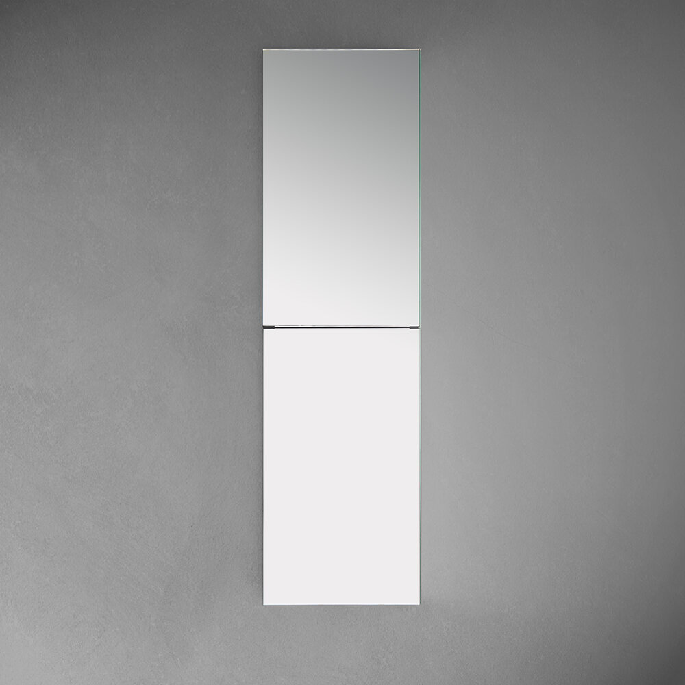 Fresca Tall Bathroom 15 X 52 Recessed Or Surface Mount Frameless Medicine Cabinet With 2 Adjustable Shelves Reviews Wayfair