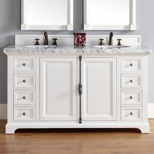 Belhaven Traditional 60 Double Cottage White Bathroom Vanity Set