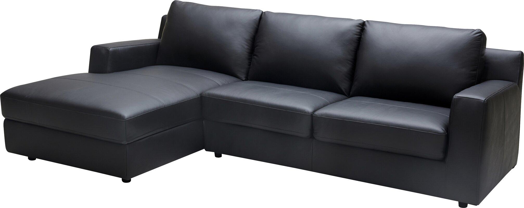 Leather Sleeper Sectional