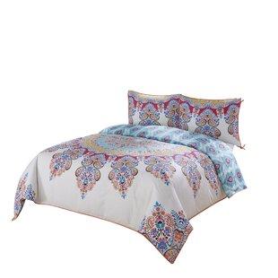 Bungalow Rose Tanisha Boho Boutique Reversible Comforter Set