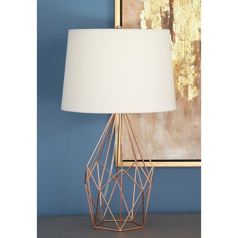 Cole grey metal wire 23 table lamp reviews wayfair metal wire 23 table lamp greentooth Images