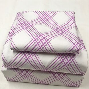Houp Plaid 200 Thread Count 100% Cotton Sheet Set