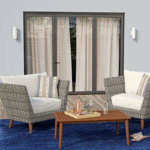 Newbury 3 Piece Conversation Set with Cushions