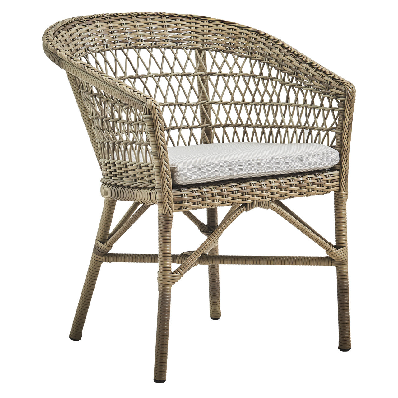 Cataldo Stacking Patio Dining Armchair With Cushion Birch Lane