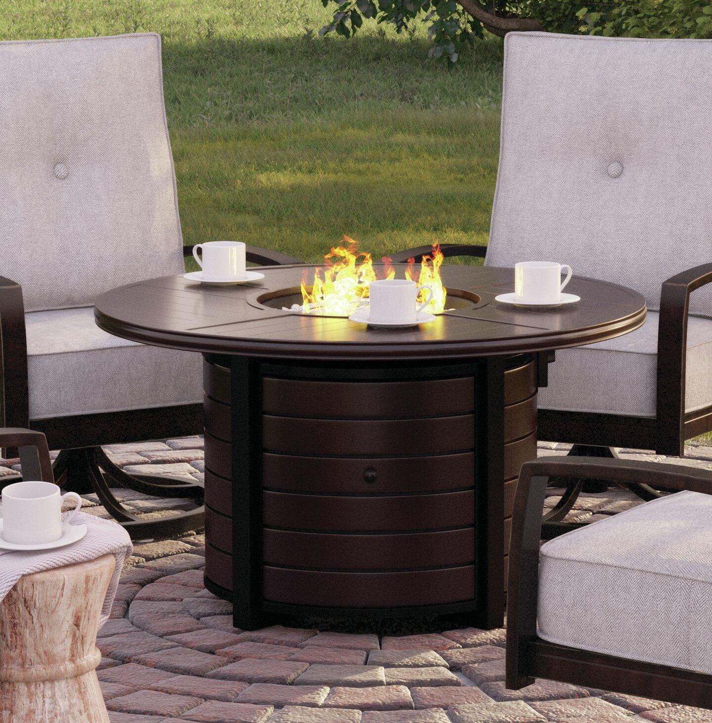 Outdoor Propane Fire Pit.Schum Aluminum Propane Fire Pit Table