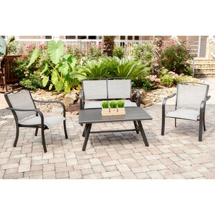 Gayden 4 Piece Sofa Seating Group with Sunbrella Cushions by Charlton Home