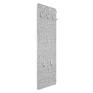 Concrete Ciré Wallpaper Wall Mounted Coat Rack By Symple Stuff