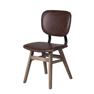 Sloan Genuine Leather Upholstered Dining Chair Design Tree Home
