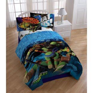 Nickelodeon Teenage Mutant Ninja Turtles Heroes 3 Piece Twin Sheet Set
