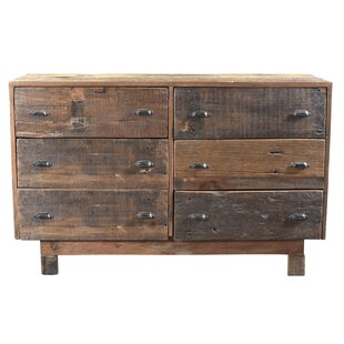 Loon Peak Reiss 6 Drawer Double Dresser