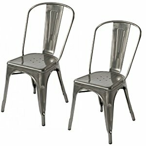 Williston Forge Cronan Industrial Chic Xavier Pauchard Tolix Style Dining Chair (Set of 4)