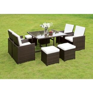 Maribeth 3 Piece Bistro Set with Cushions by Brayden Studio