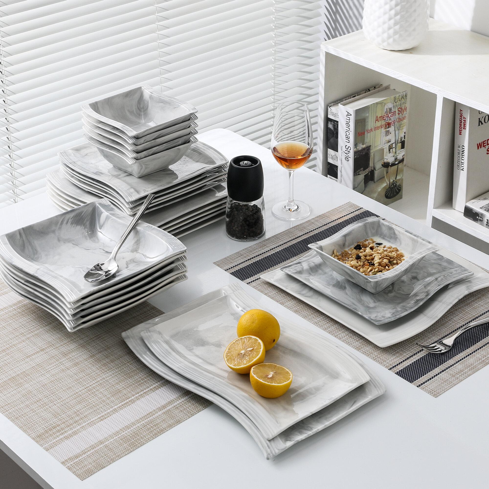 Malacasa Flora 26 Piece Dinnerware Set Service For 6 Reviews Wayfair