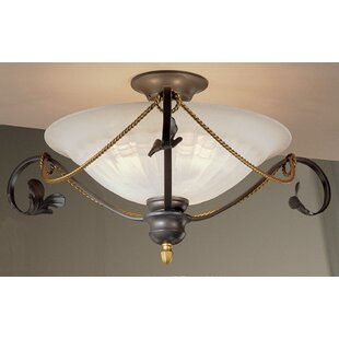 Verona 3-Light Semi Flush Mount by Classic Lighting