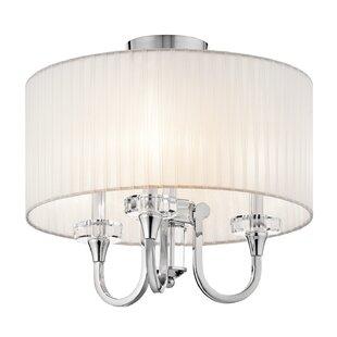 Willa Arlo Interiors Austine Convertible 3-Light Semi Flush Mount