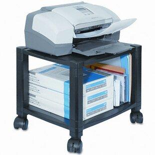 Two-Shelf Mobile Printer Stand by Kantek