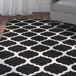 Best Reviews Bogdan Charcoal/White Area Rug By Charlton Home