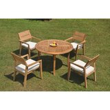 Dorantes 5 Piece Teak Dining Set