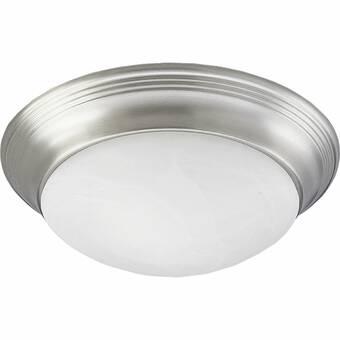 Charlton Home Weehawken 1 Light 7 5 Simple Bowl Flush Mount Reviews Wayfair