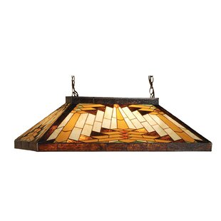 Millwood Pines Ethen Oblong 9-Light Pool Table Tight