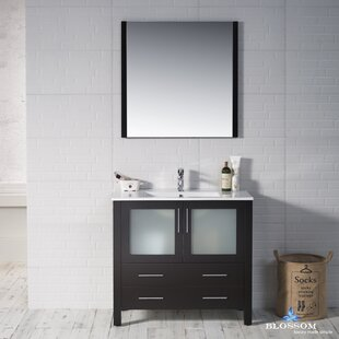 Mance 35 Single Bathroom Vanity Set with Mirror By Orren Ellis