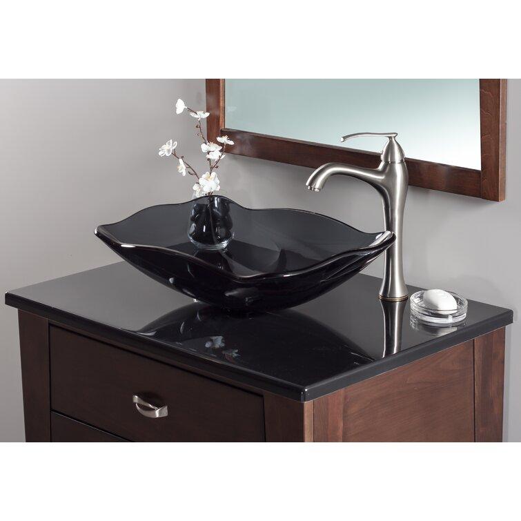 Novatto Glass Vessel Bathroom Sink Reviews Wayfair