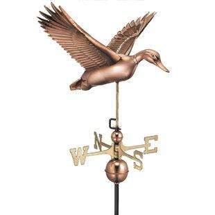 Broomsedge Flying Duck Weathervane By Sol 72 Outdoor