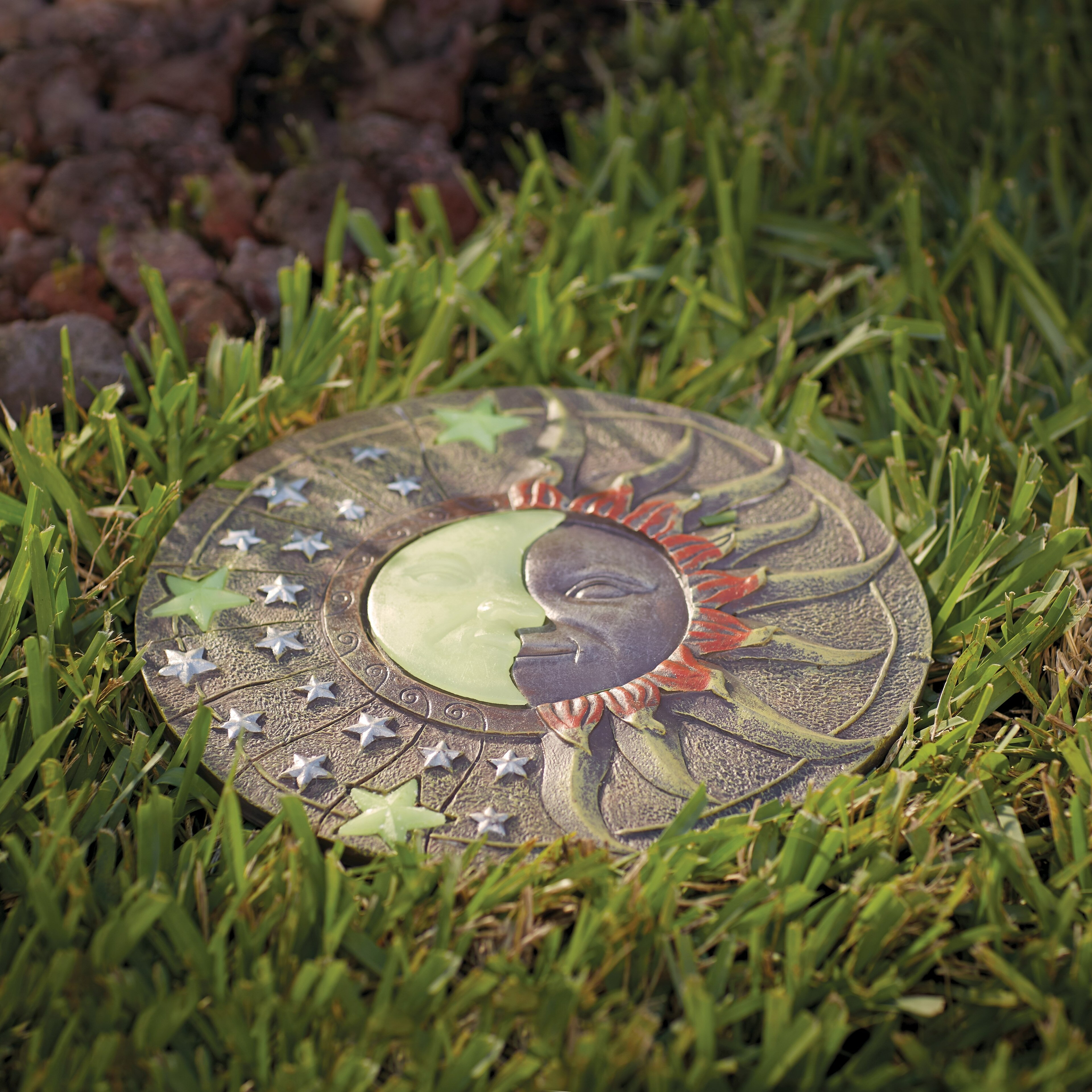 Alcott Hill Heathcote Solar Powered Garden Stepping Stone U0026 Reviews |  Wayfair