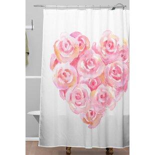 Rose Heart Shower Curtain