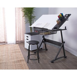Fusion Drafting Table and Stool Set By Studio Designs