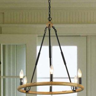 Millwood Pines Varghese 6-Light Wagon Wheel chandelier