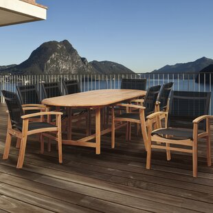 Beachcrest Home Hillsford 9 Piece Teak Dining Set