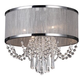 Rosdorf Park Marquette 4-Light Flush Mount