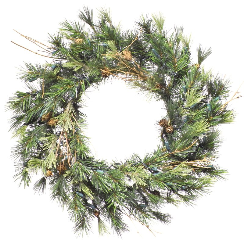 "Mixed Country Pine 20"" PVC Wreath"