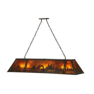 Meyda Tiffany Greenbriar Oak 9-Light Pool Table Light
