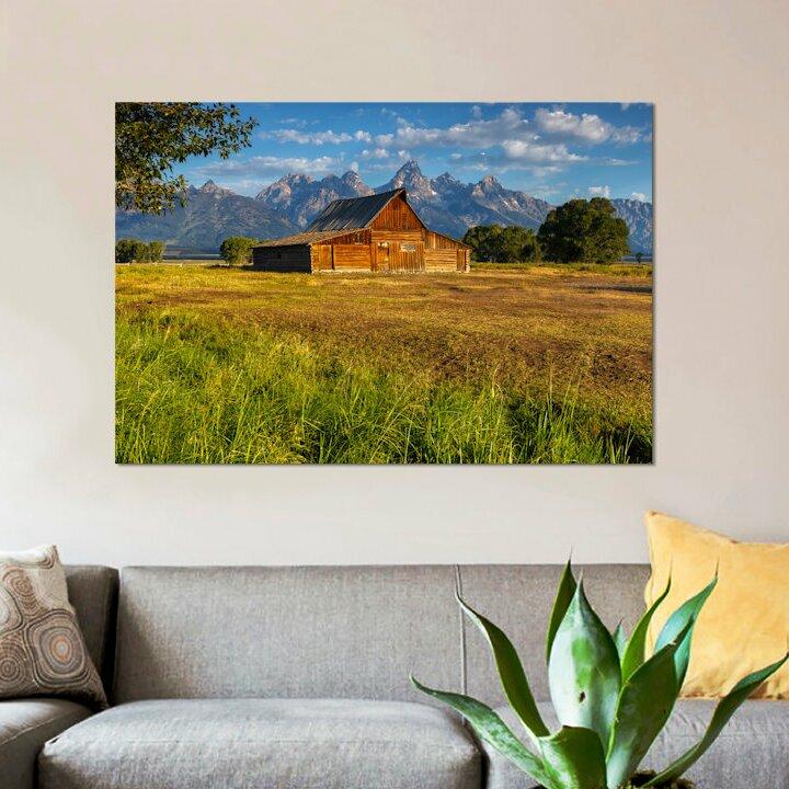 Country Barn Grand Teton Snow Wall Picture Art Print