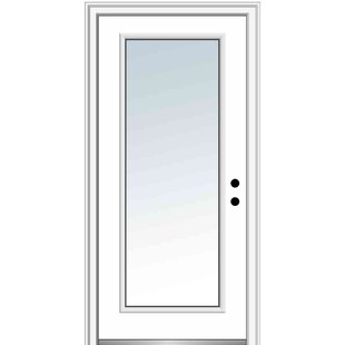 Clear Glass Full Lite Steel Primed Prehung Front Entry Door