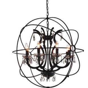 Gracie Oaks Margo 8-Light Globe Pendant