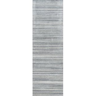 Best Reviews Haggins Hand-Woven Wool Gray Area Rug By Wrought Studio