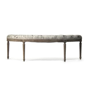 Arviso Curved Upholstered Bench by One Allium Way Top Reviews