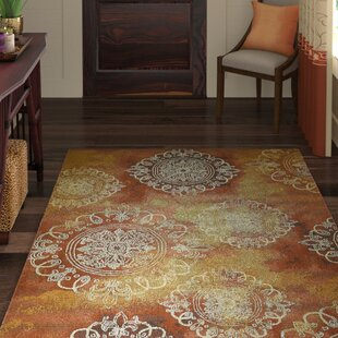 Victoria Yellow/Brown Indoor/Outdoor Area Rug