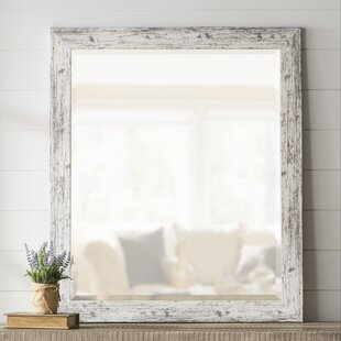 LaGrange Rustic Weathered Farmhouse Accent Wall Mirror by Laurel Foundry Modern Farmhouse