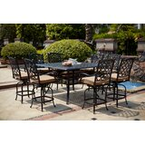 Millner 9 Piece Bar Height Dining Set with Cushions