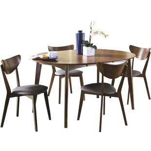 Driffield 5 Piece Extendable Solid Wood Dining Set Corrigan Studio