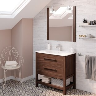Nakagawa Solid Pine 800mm Free-standing Single Vanity Unit By 17 Stories