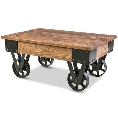 Silke Wheel Coffee Table by Gracie Oaks Sale